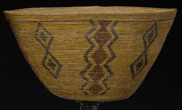 A Western Mono polychrome basket