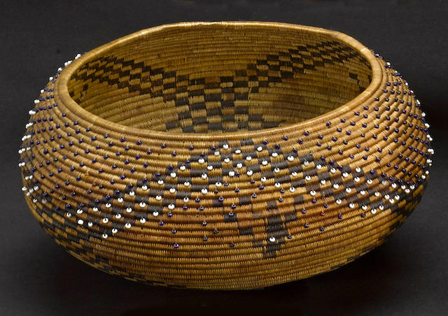 A Pomo beaded basket