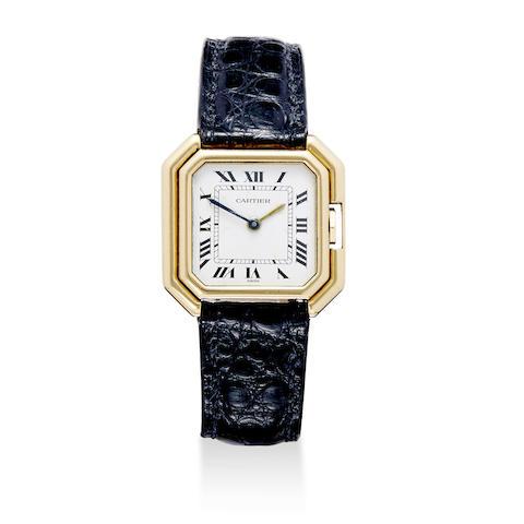 Cartier. An 18K gold lady's wristwatch