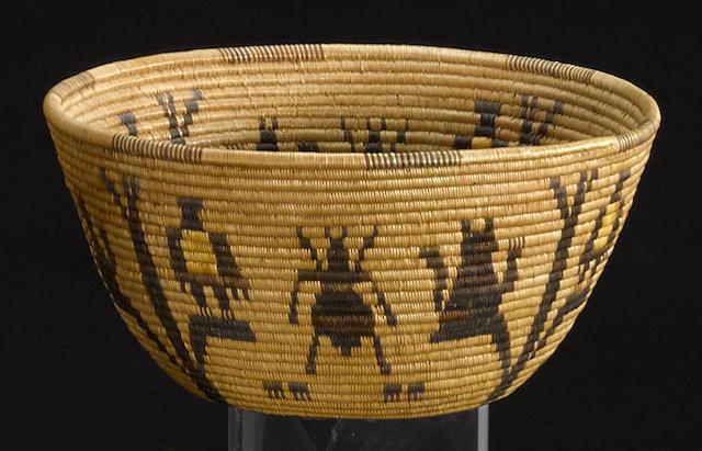 A Panamint polychrome basket