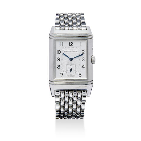 A stainless steel Reverso bracelet wristwatch with box and Guarantee Certificate