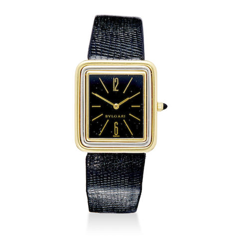 Two 18K gold manual winding wristwatches