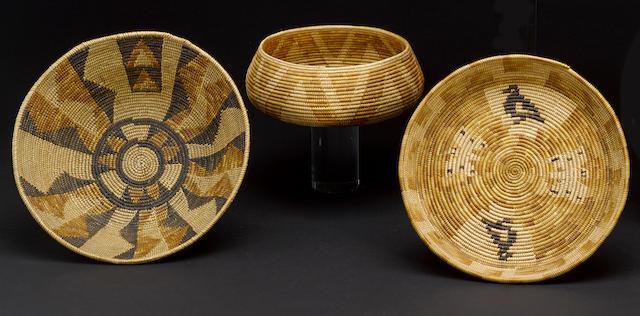 Three Mission baskets