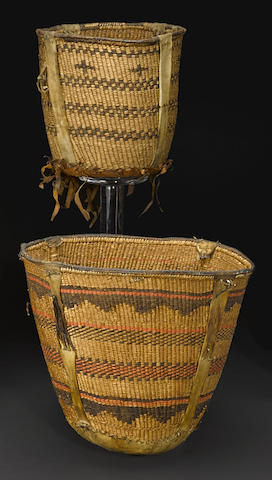 Two Apache burden baskets