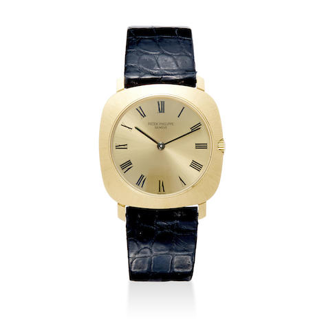 A fine 18K gold manual wind wristwatch with box
