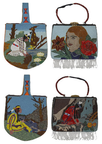 Two Walla Walla/Yakima beaded bags