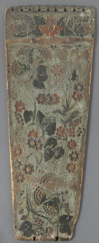 An Iroquois cradle board