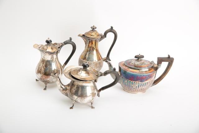 A silver hot water pot
