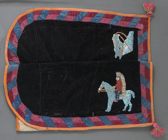 A Nez Perce beaded saddle blanket