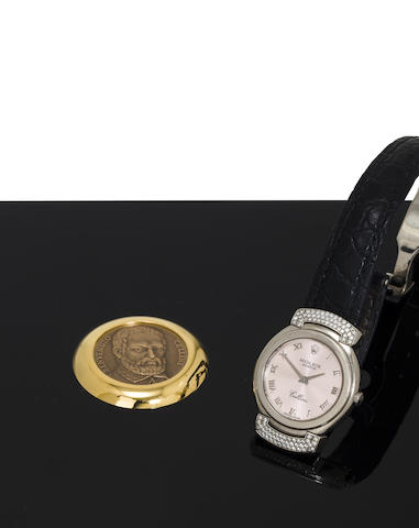 A fine 18K white gold and diamond lady's watch