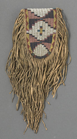 A Cheyenne or Lakota beaded belt pouch