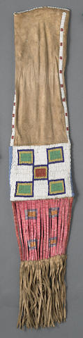 A Sioux beaded tobacco bag