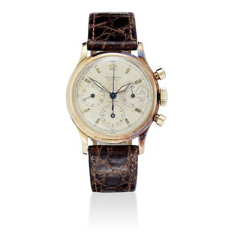 A 14K gold chronograph wristwatch