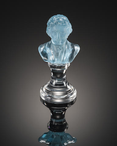Blue Topaz Carving of Beethoven