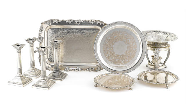 An assembled International group of silverplate accessories and tableware
