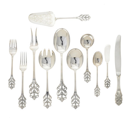 A Norwegian sterling silver Modernist flatware service for eight