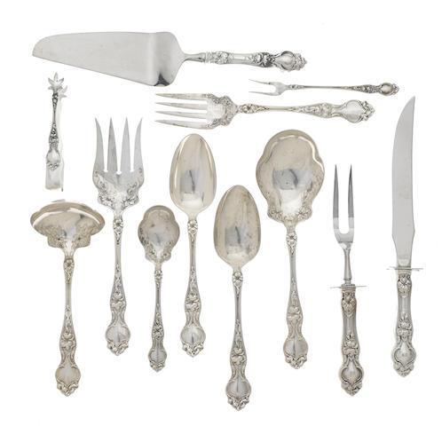 An American sterling silver flatware service