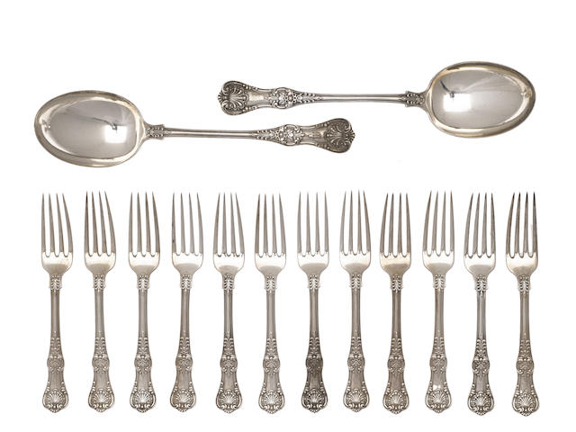 An American sterling silver part flatware service