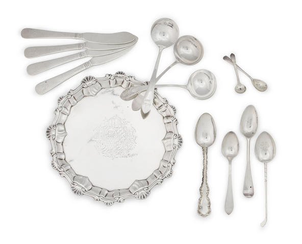 A George III sterling silver waiter