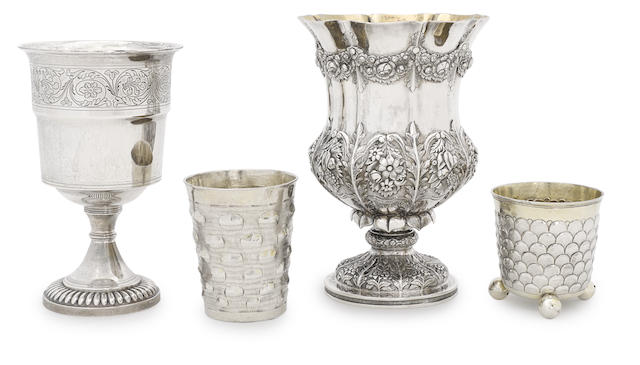 A George III sterling silver goblet
