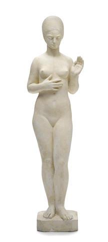 A Pierre Cazaubon large plaster sculpture