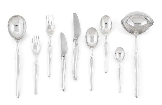 A Tapio Wirkkala for Christofle silverplate Duo flatware service for six