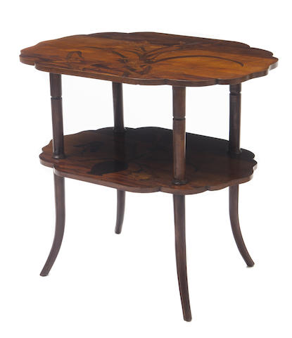 A Galle marquetry table