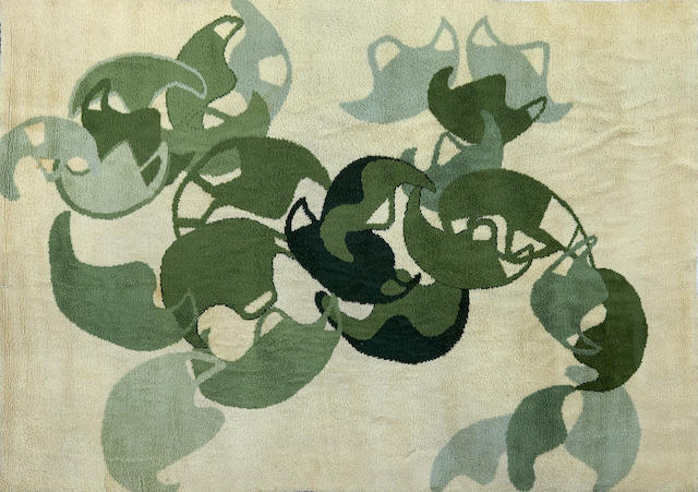 An Anthony Luppo woven wool rug