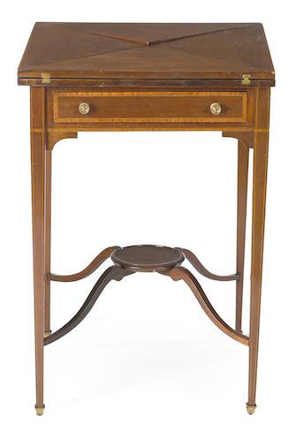 A Continental mahogany handkerchief table