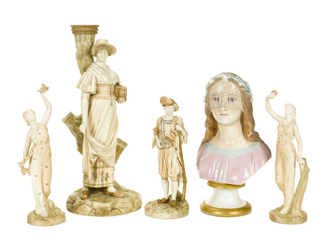 A group of five Royal Worcester figures