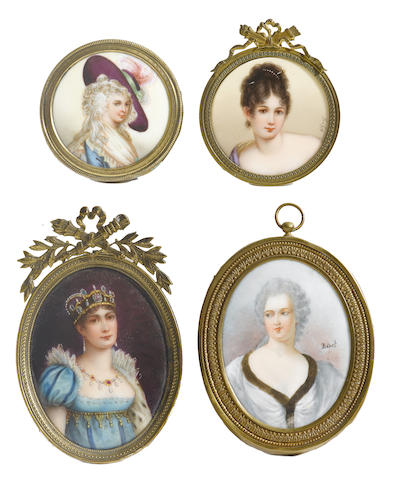 A collection of ten Continental porcelain plaques
