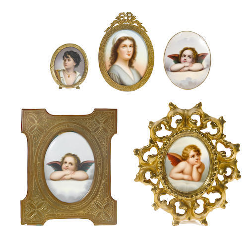 A collection of Continental porcelain plaques