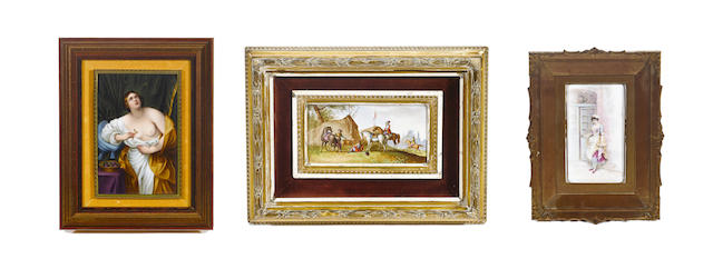 A group of three Continental porcelain plaques