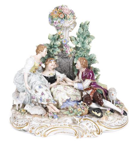 A German porcelain figural group