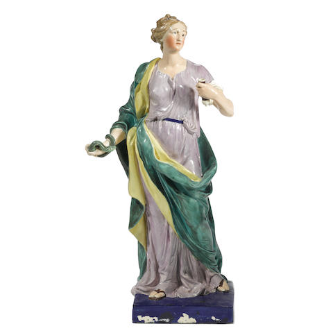 A Staffordshire figure of a classical maiden