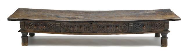 An imposing Spanish Baroque walnut table