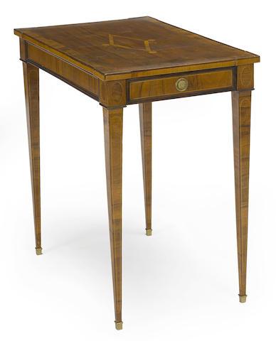 A Louis XVI gilt bronze inlaid table ambulante