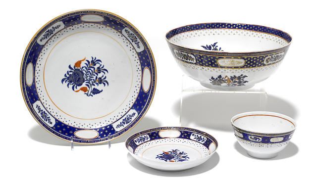 Four Chinese Export porcelain table articles