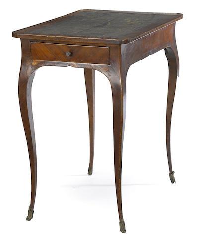 A Louis XV walnut writing table