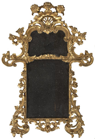 An Italian Rococo style giltwood mirror