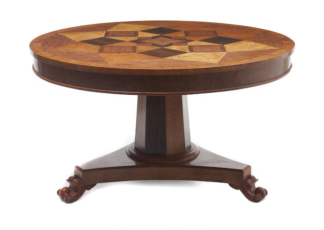An Italian Neoclassical style inlaid center table