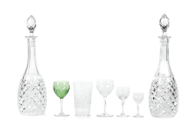 A Swedish seventy two piece cut glass stemware service