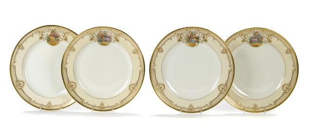 A set of twelve Dresden porcelain plates