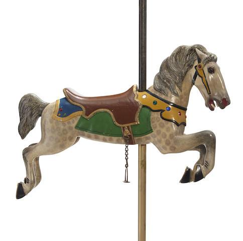 A Spillman Engineering jumper carousel horse