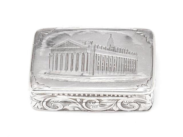 A Victorian silver 'Royal Exchange' engraved vinaigrette