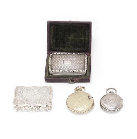 A cased Victorian silver vinaigrette