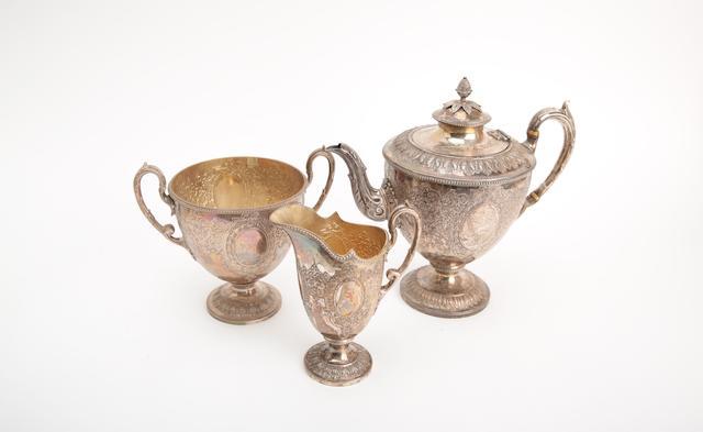 A Victorian silver tea service