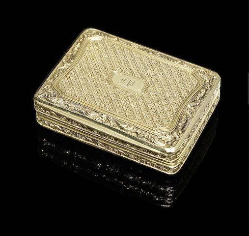 A fine William IV silver gilt vinaigrette