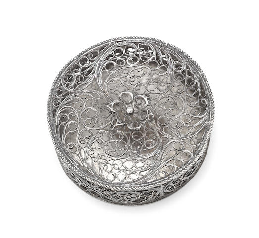 Two 18th century silver filigree boxes