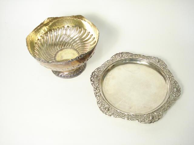 An early 20th century Irish silver dish